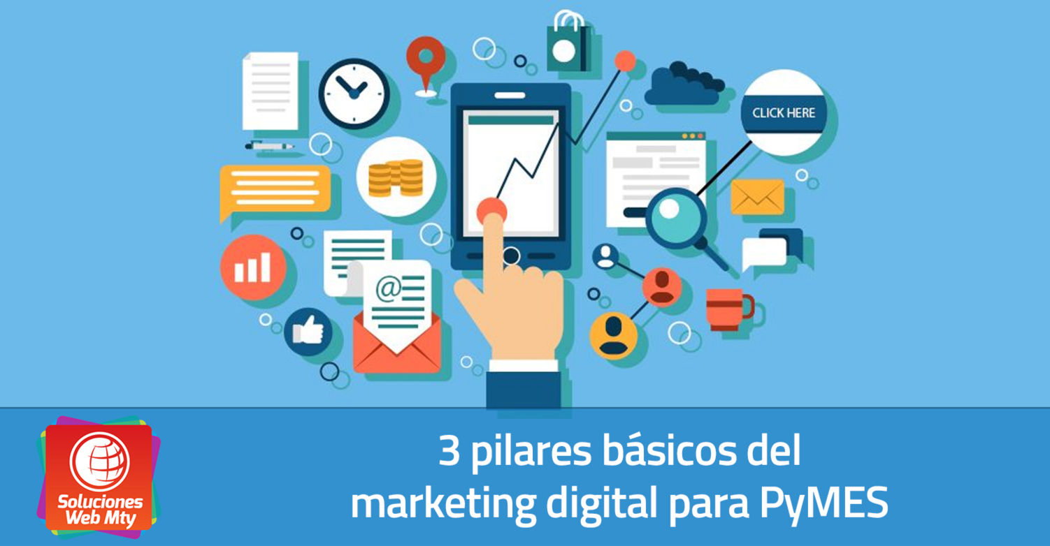3 pilares básicos del marketing digital para PyMES