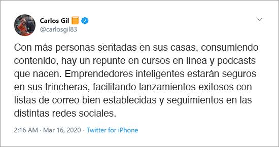 """Carlos Gil es el autor de """"El fin del marketing"""""""